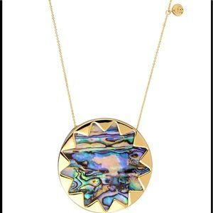 House Of Harlow Large Sunburst Abalone Necklace